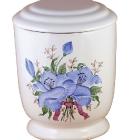 501 - Kézzel festett kerámia urna - nefelejcs
