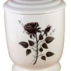 502  - Kézzel festett kerámia urna - rózsa