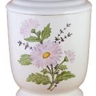 506  - Kézzel festett kerámia urna - százszorszép