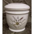 Ametiszt liliomos kerámia urna
