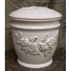 Rózsás kerek urna - kerámia aranyozott mintával