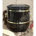 Füles fekete kerámia urna