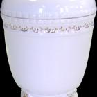 Aranyozott fehér kerámia urna