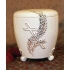 Talpas kerámia urna ágas kereszttel