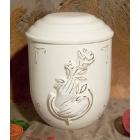 P- rózsát tartó kéz urna
