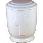 37 - Keresztes urna - fehér
