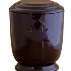 37 - Keresztes urna - fekete