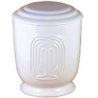 41- Fűzfás kerámia urna - fehér