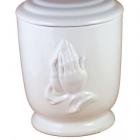Imakezes kerámia urna - fehér