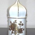 Hollóházi porcelán ereklyetartó - kupolás rózsás
