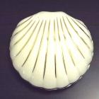 Hollóházi porcelán kagyló mini urna