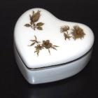 Hollóházi porcelám mini urna szív