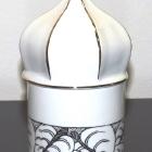 Hollóházi porcelán mini urna - kupolás leveles