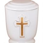 37a - aranyozott keresztes urna - fehér
