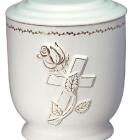 38a - aranyozott rózsa-keresztes kerámia urna