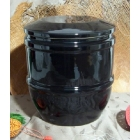 Fekete kerámia urna - P