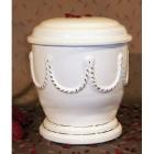 P - Lánc mintás fehér urna