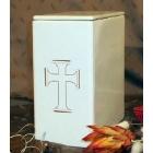 Széles keresztes fehér urna