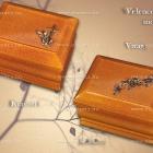 Velence Art urna - mogyoró