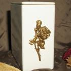 Iker urna - fehér domború rózsa