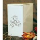 FEhér rózsás iker urna
