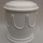 Kézi festett urna - lánc fehér