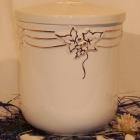 Kézi festett urna - borostyán