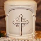 Kézi festett urna - opus kereszt