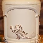 Kézi festett urna - opus rózsa