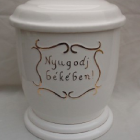 Kézi festett urna - nyugodj békében