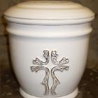 Ametisz fehér urna - kereszt