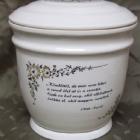 Ametisz fehér urna - idézet, virágos