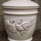 Ametisz fehér urna - rózsa