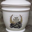 Ametisz fehér urna - motoros