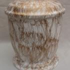 Márvány hatású urna - fehér-arany, kerek