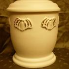 Matt urna - pille fehér