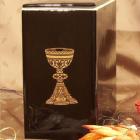 Iker dekoros fekete urna