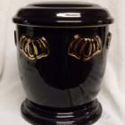 Kézi festett urna - pille fekete