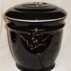 Ametisz fekete urna - borostyán