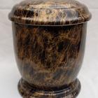 Márvány hatású urna - fekete-arany, kerek