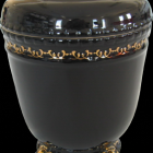 Fekete aranyozott urna