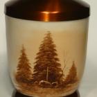 FEnyő - kézzel festett fém urna