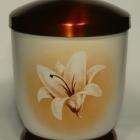 Liliom - kézzel festett fém urna