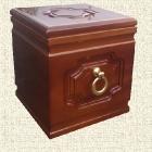 Kazettás fa kocka urna
