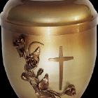 Rózsa-keresztes fém urna