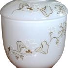 Fehér opál girland urna
