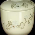 Ekrü opál girlnad üveg urna