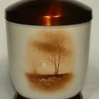 Ősz - kézzel festett fém urna