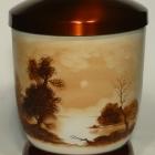 Vízpart - kézzel festett fém urna