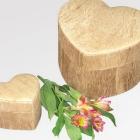 Fatörzs szív urna - havak természetben történő elhelyezéséhez